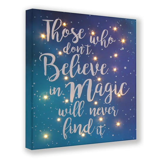 Blue Quote Light Up Canvas