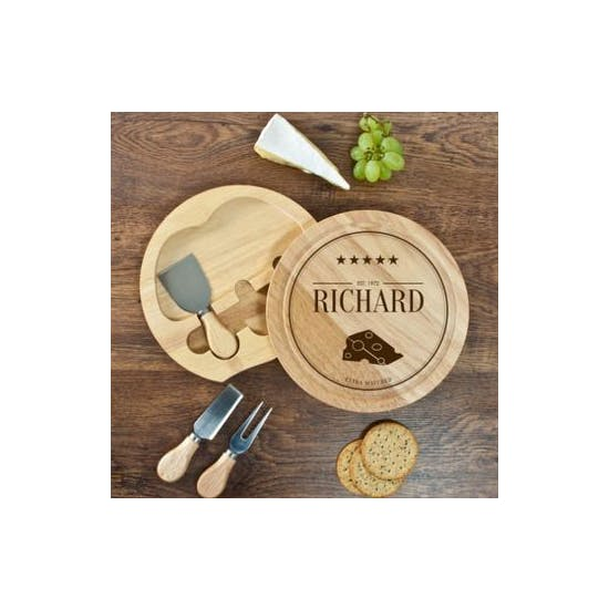 Personalised Tree Carving Cheese Set
