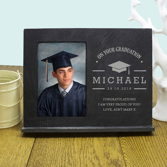 'On Your Graduation' Slate Frame