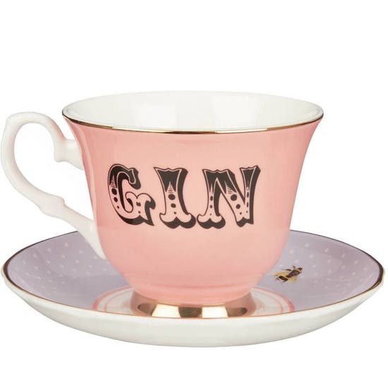 Fine Bone China Gin & Tonic Set