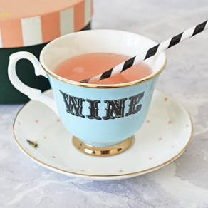 Wine Tea Cup and Saucer