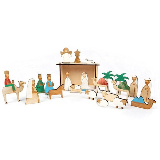 Wooden Advent Nativity Calendar