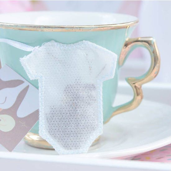 Handmade Baby Vest Shaped Tea Bags