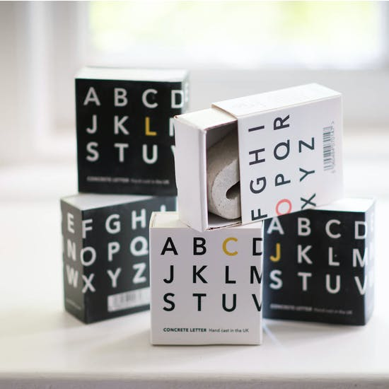 Gift Boxed Mini Concrete Letters