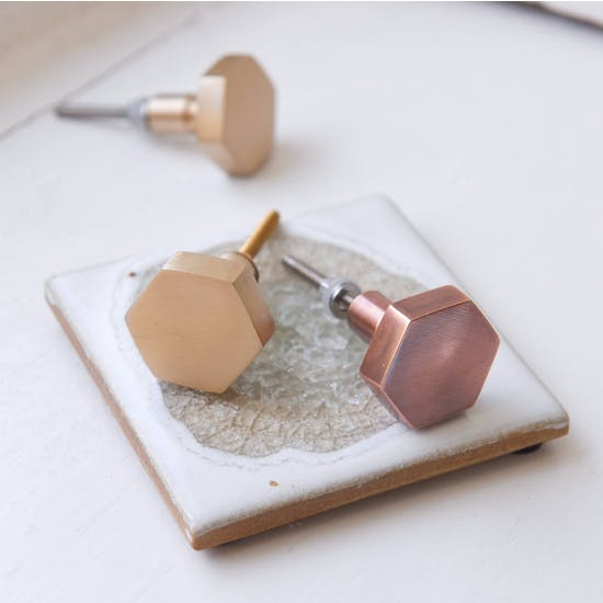 Metal Hexagon Knobs
