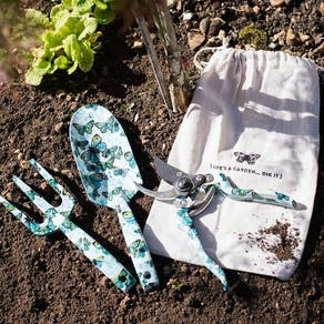 Floral Garden Tool Set In Gift Bag