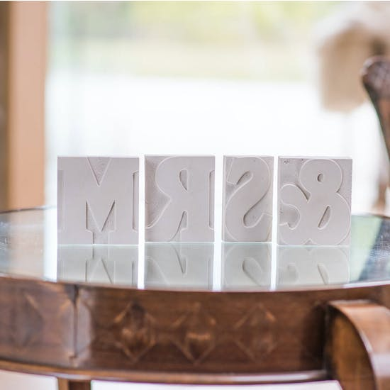 Reverse Concrete Letter Blocks