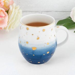 Gold Speckled Ombre Ceramic Mug