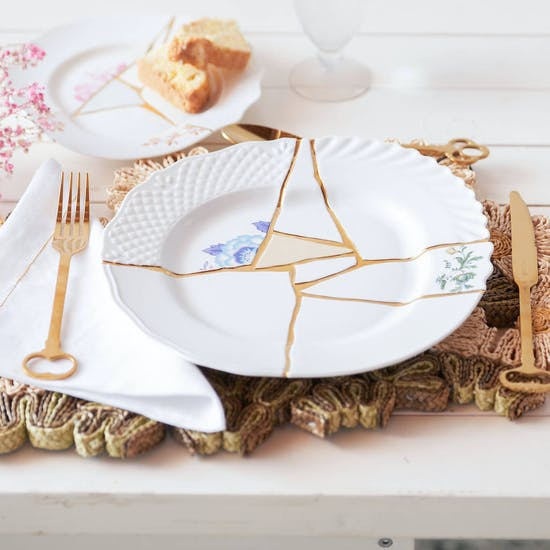 Hand Painted 24 Carat Gold Kintsugi Plate