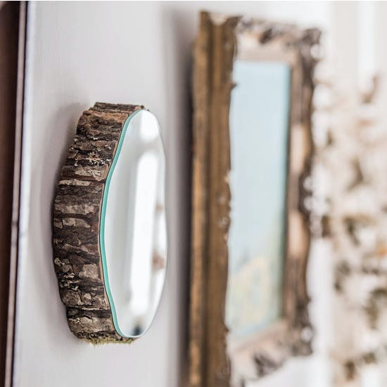 Heavy Real Oak Wooden Mirrors