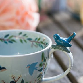 Hummingbird Large China Teacup