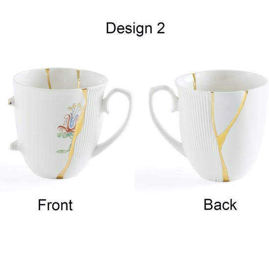 Hand Painted Real Gold Porcelain Mug, seletti