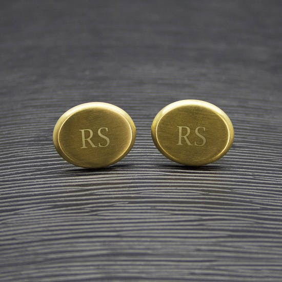 Brushed Gold Cufflinks