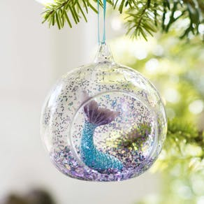 Mermaid Glitter Christmas Tree Decoration