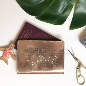 Metallic Stitch Your Own Passport Cover