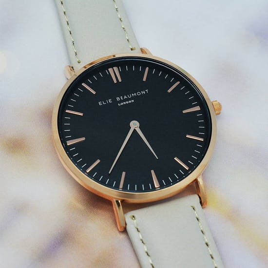 Modern Vintage Personalised Leather Watch