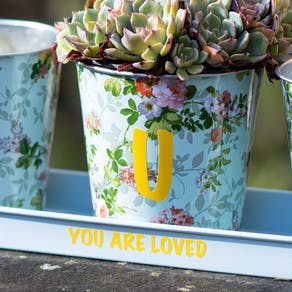 Personalised Trio Of Planters