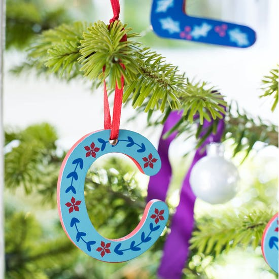 Retro Folksy Painted Wooden Decorations