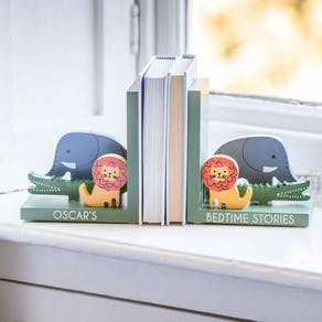 Personalised Animal Wooden Bookends