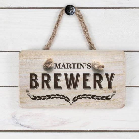 Personalised Wooden Brewery Sign