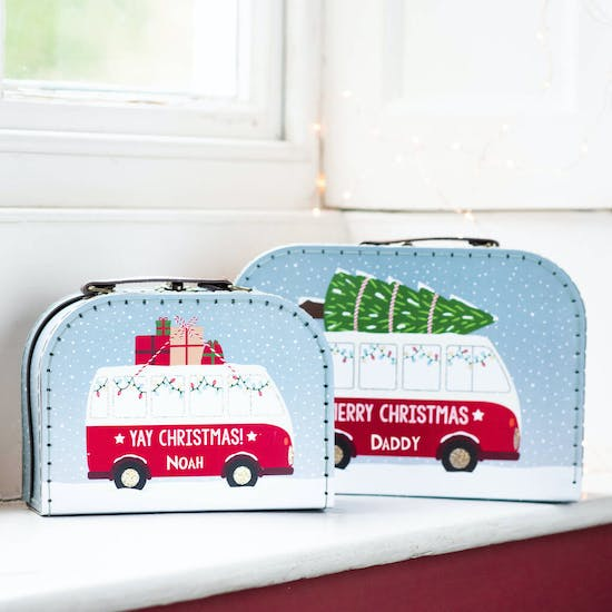 Personalised Christmas Campervan Suitcases