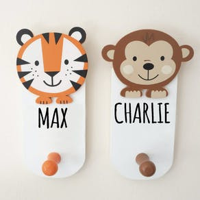 Personalised Childs Animal Coat Hooks