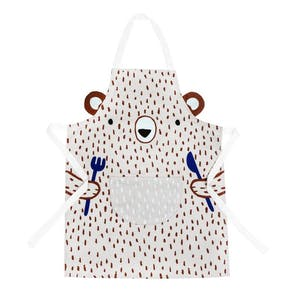 Personalised Cute Bear Childs Apron