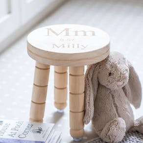 Personalised Letter And Name Wooden Stool