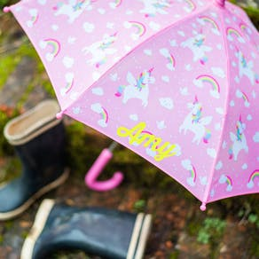 Personalised Childs Unicorn Umbrella