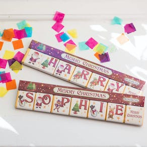 Personalised Christmas Letter Chocolate Squares