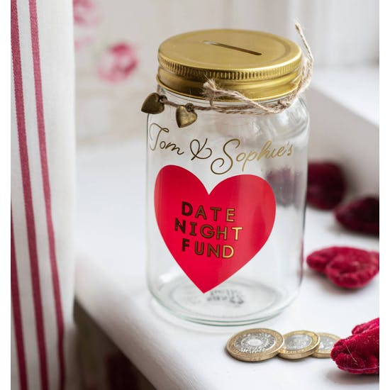 Personalised Date Night Savings Jar