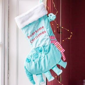Personalised Dinosaur Christmas Stocking