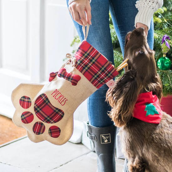 Personalised Hessian Dog Stocking