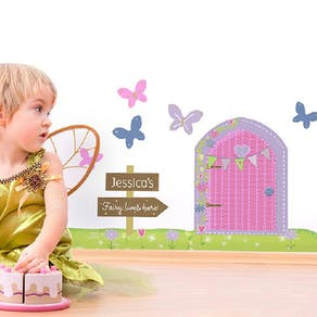 Personalised Fairy Door Wall Sticker