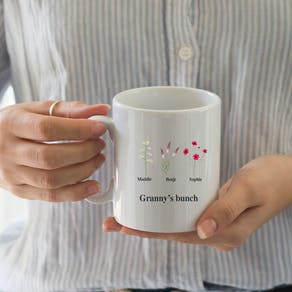 Personalised Family Birth Flower Mug