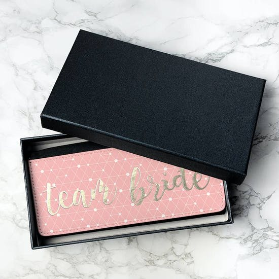 Personalised Gold And Pink Ladies Wallet