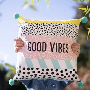 Personalised Good Vibes Cushion