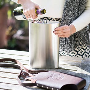 Holds A Bottle Of Wine Hip Flask