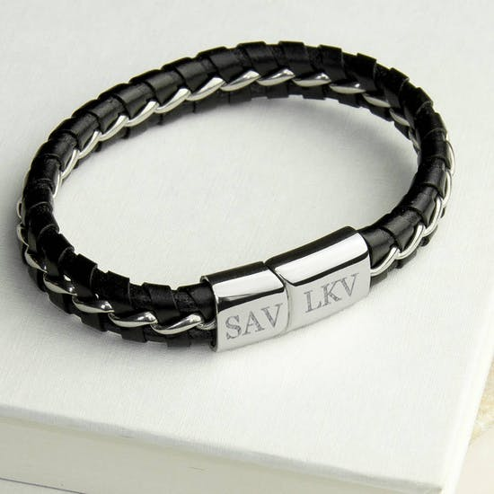 Personalised Soft Leather Bracelet