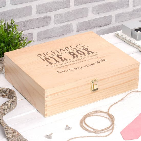 Personalised Mens Accessories Storage Box