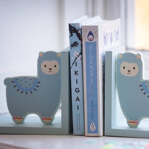 Personalised Nursery Cute Llama Bookends
