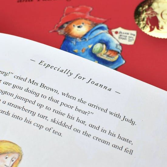 Personalised Paddington Bear with Silver Coin