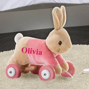 Personalised Flopsy Rabbit Pull along Toy