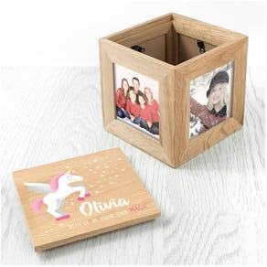 Personalised Unicorn Photo Box