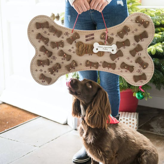 Personalised Refillable Dog Biscuit Advent Calendar