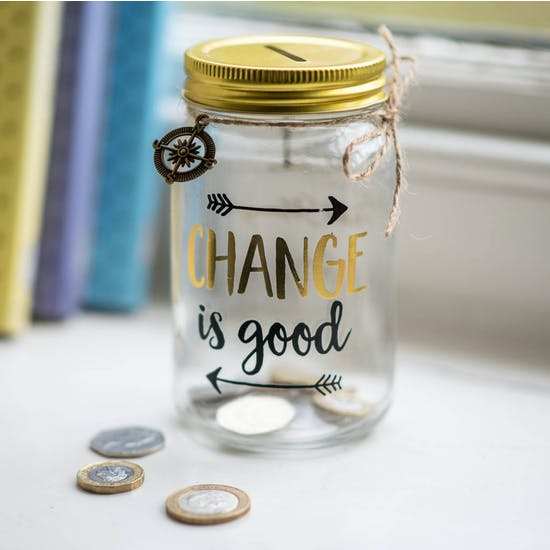Personalised Change is Good Savings Jar