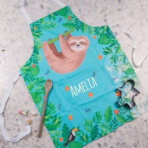 Personalised Cute Sloth Childs Apron