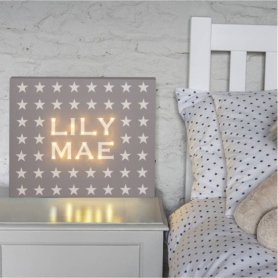 Personalised Stars Illuminated Canvas