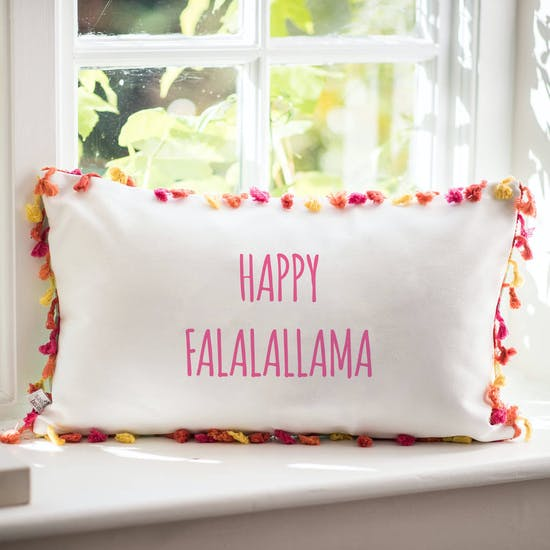 Personalised Tassled Llama Cushion