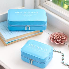 Personalised Teacher Travel Jewellery Case